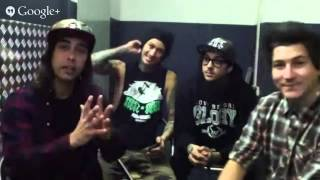 Pierce The Veil Rock Sound Live Chat #RSaskPTV