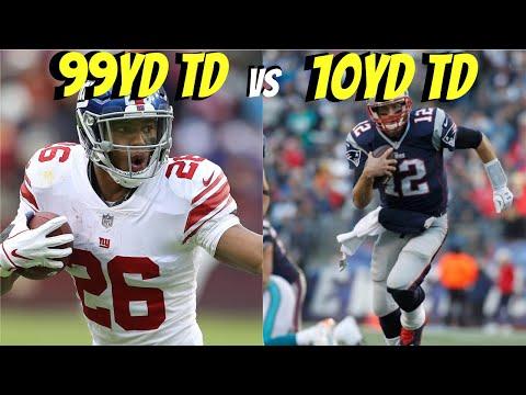 Can Saquon Barkley Get A 99yd Touchdown Before Tom Brady Can Get A 10yd Touchdown?!?
