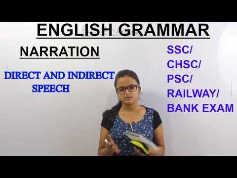 ENGLISH GRAMMAR || NARRATION || DIRECT AND INDIRECT SPEECH  LESSON || ONLINE TUTORIAL