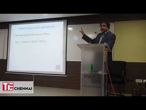 TiE Chennai : How to start a business entity  in the United States