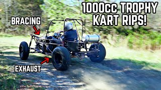 1000cc Mini Trophy Truck Build Pt. 14 | Test Drive, Exhaust, Working Out the Bugs!