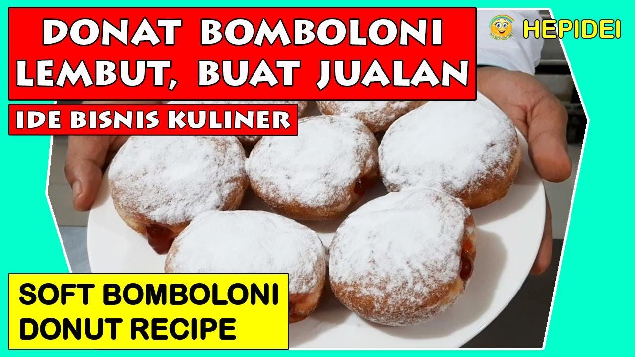 Resep Donat Bomboloni Lembut Buat Keluarga Jualan Soft Bomboloni Donut Recipe For Familiy Hepidei Youtube
