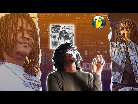 MAKING A WAVY BEAT FOR YOUNG NUDY FROM SCRATCH IN FL STUDIO   Young Nudy Type Beat Tutorial