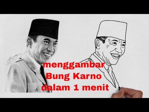 Cara Menggambar Wajah Bung Karno Dalam 1 Menit Abdul Arif Youtube