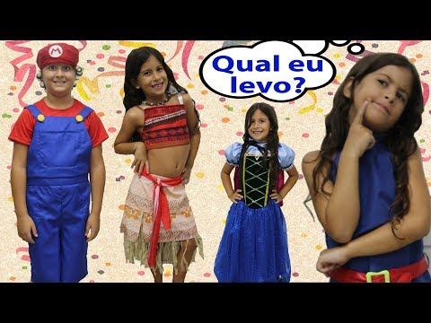 COMPRANDO A FANTASIA DE CARNAVAL COM MARIA CLARA E JP