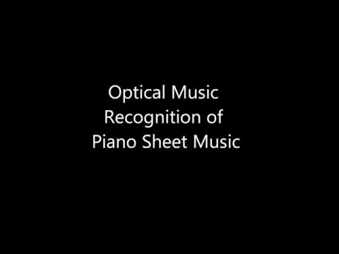 Optical Music Recognition of Piano Sheet Music
