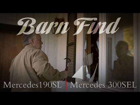 BARN FIND - Two Classic Mercedes Found After 25 Years 190SL 300SEL