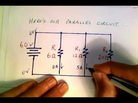 calculating current in a parallel circuit mov youtube rh youtube com Series Circuit Diagram Grade 4 Series Circuit Drawing