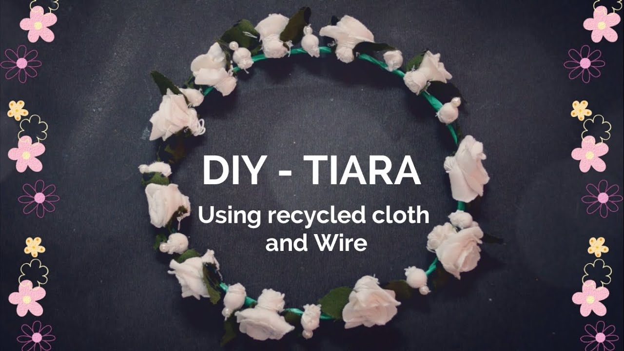 How To Make A Tiara Recycled Cloth Hair Band Flower Crown Creative Indian Arts 8