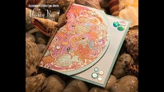 Handmade How to: Shaped card with metalllic watercolor and shadow stamping, cardmaking tutorial