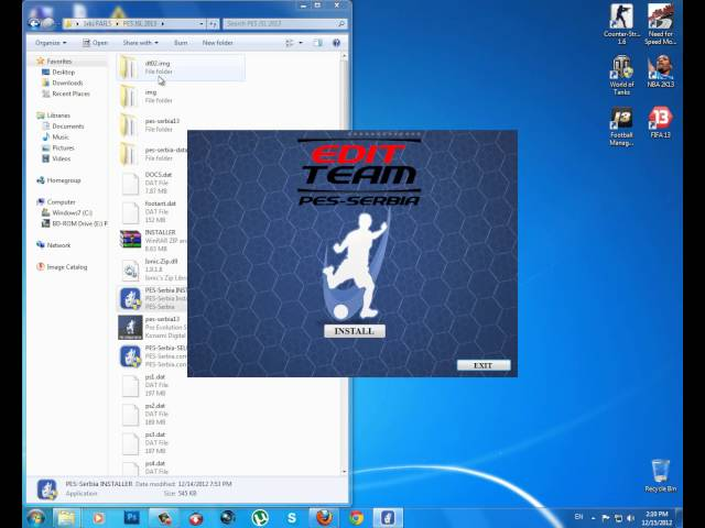 JSL 2013 PES 2013 patch, instalacija