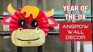 賀年摺紙  DIY Chinese New Year Red Packet Decor   Year of the OX Angpow Wall Decor