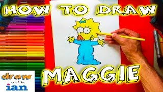 How to Draw Maggie from the Simpsons