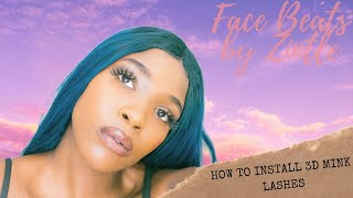 Face Beats by Zintle S1 E5| How to Install 3D Mink Lashes | @baabmedia