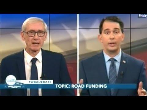 SCOTT WALKER vs TONY EVERS Wisconsin Gubernatorial Debate
