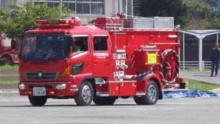 加須市総合防災訓練 緊急走行