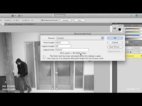 Setting A Custom Scale And Measuring In Photoshop
