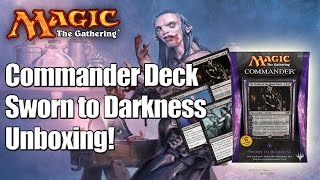 MTG - Sworn to Darkness Commander Deck 2014 Unboxing & Review!
