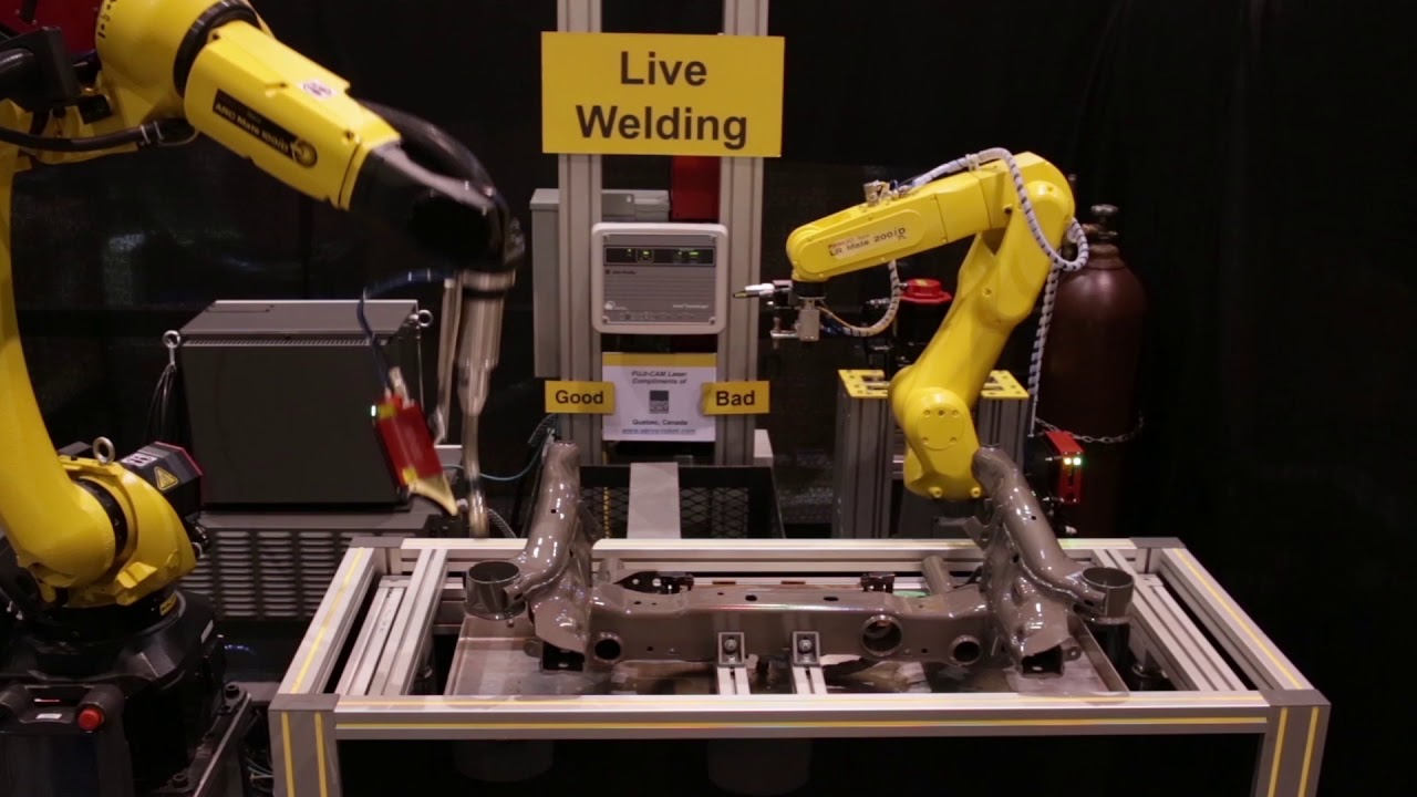 Robotic Arc Welding with Servo Robot Seam Tracking Process Control & FANUC  ARC Mate 100iD Robot