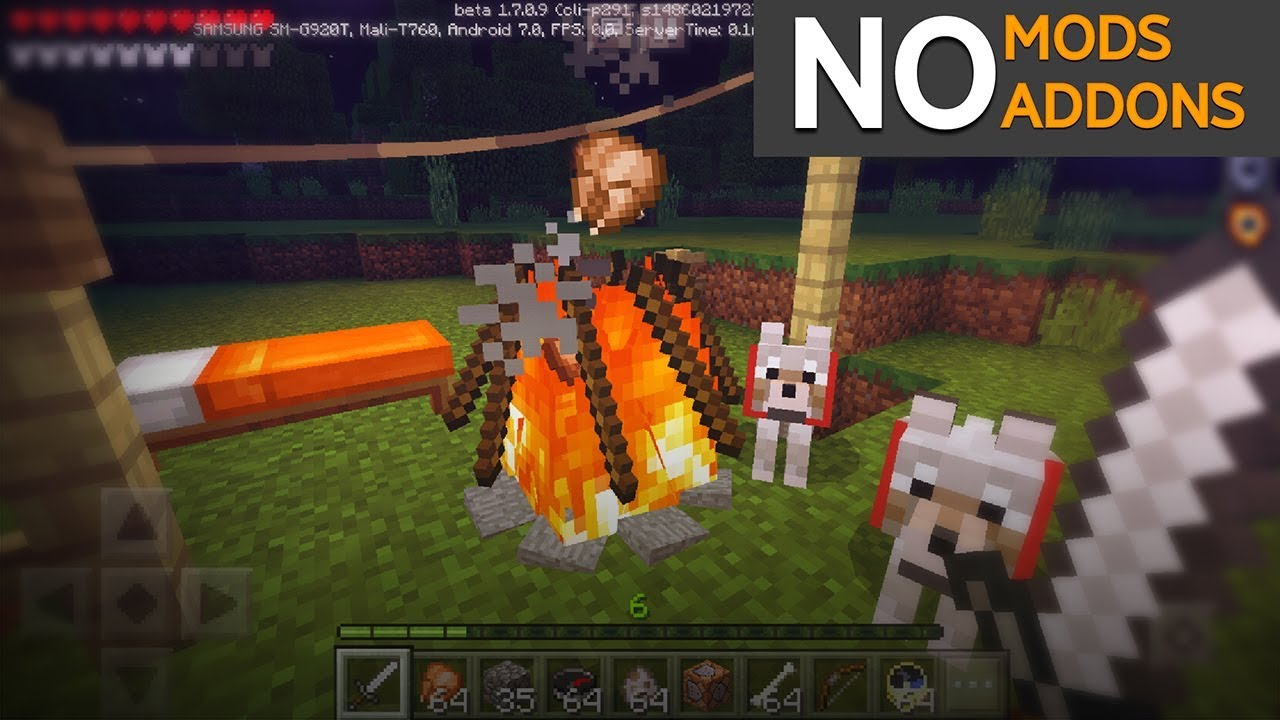 How to make CAMPFIRE (No Mods // No Addons) - Minecraft PE 1 7 & 1 8