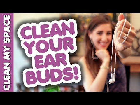 Clean Earbuds or In-Ear Headphones! Simple Cleaning Ideas for Audio Electronics (Clean My Space)