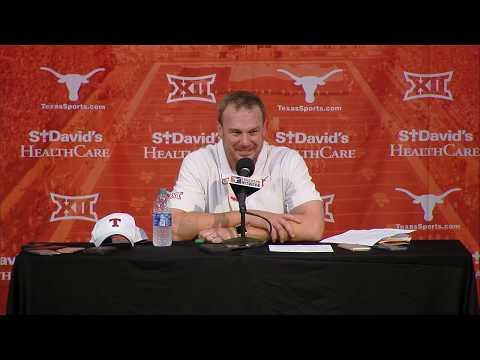 The Bottom Line - Tom Herman Addresses The Media Following Texas vs. Kansas