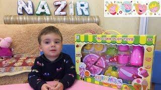 TOYS CHILDREN'S TEA RESTAURANT TEA cake play toy Видео для детей Детский ресторан