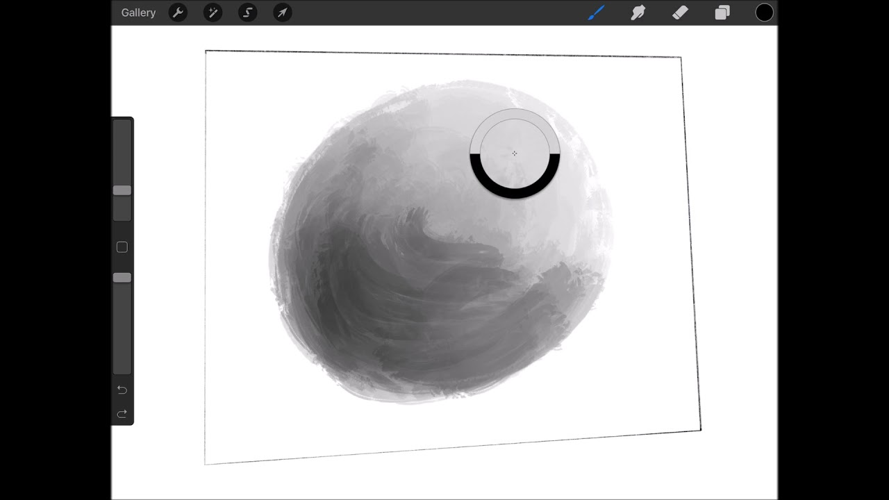 Grayscale ball drawing tutorial