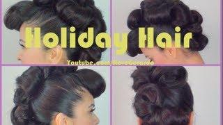 Holiday fauxhawk hair tutorial by ILoveGerardo-Christmas eve day hair idea
