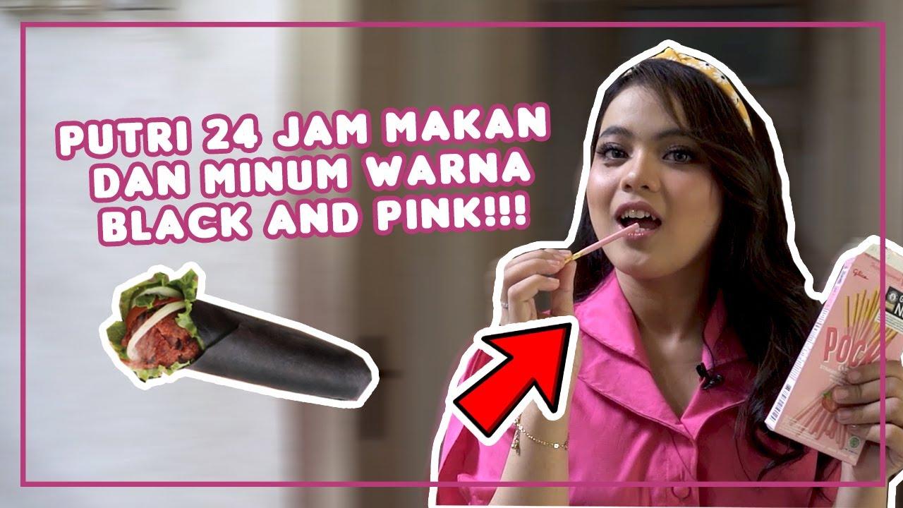 Puas Banget, Putri Makan Makanan Black and Pink | #DangdutKepo