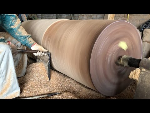 Woodworking Large Extremely Dangerous // Giant Woodturning – Work With Giant Wood Lathes!!!
