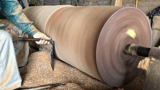 Woodworking Large Extremely Dangerous // Giant Woodturning - Work With Giant Wood Lathes!!!