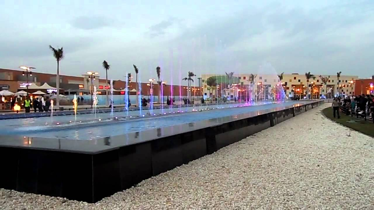 dancing fountain at mall of arabia 6th october city egypt youtube. Black Bedroom Furniture Sets. Home Design Ideas