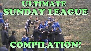 ULTIMATE SUNDAY LEAGUE FOOTBALL FUNNY COMPILATION! | Tackles, Fails, Goals, Fights, Red Card
