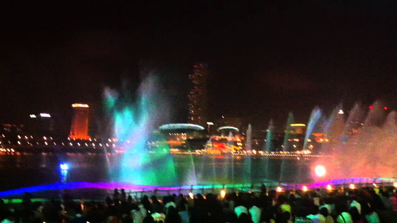 Singapore Marina Bay Sands Mbs Light Water Laser Show Youtube