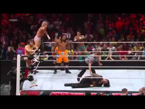 WWE The Shield 11 on 3 Handicap Elimination Match