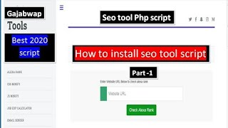 How to Make Seo tool Website||Installation Part 1