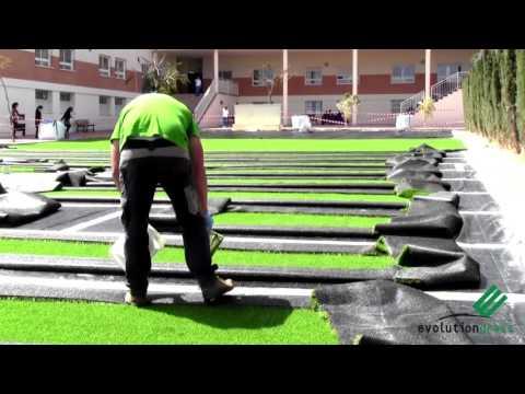 La capacidad de filtro del drenaje de la cancha sint ti - Como instalar cesped artificial sobre tierra ...