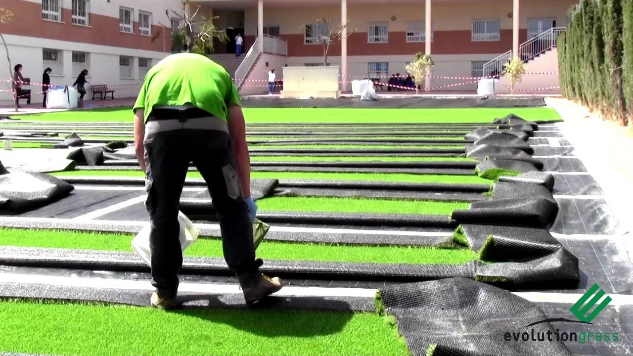 Pasos a seguir para preparar terreno e instalar c sped - Poner cesped artificial sobre tierra ...