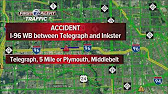 I-96 westbound near Beech Daly reopens after bus crash - YouTube