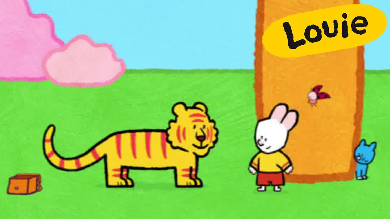 Tigre - Louie dibujame un tigre   Dibujos animados para ...