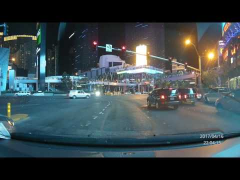 Driving on the Las Vegas Strip - Dash Cam