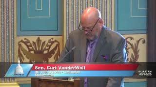 Sen. VanderWall addresses the Senate on business closures, executive orders