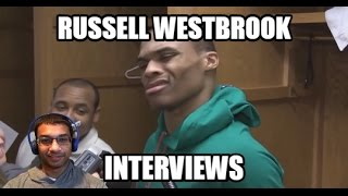 RUSSELL WESTBROOK HATES REPORTERS! Funny Interview Clips 2017 (REACTION)