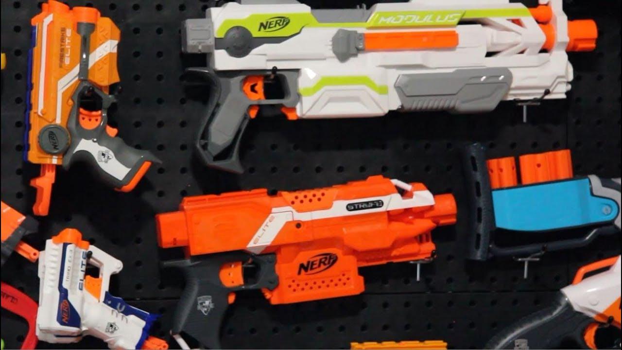 Nerf Gun Wall Diy Pegboard Nerf Gun Storage