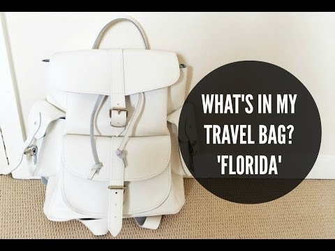 What's in my travel bag? - FLORIDA | IDRESSMYSELFF