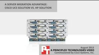 migration comparison cisco ucs solution vs hp solution