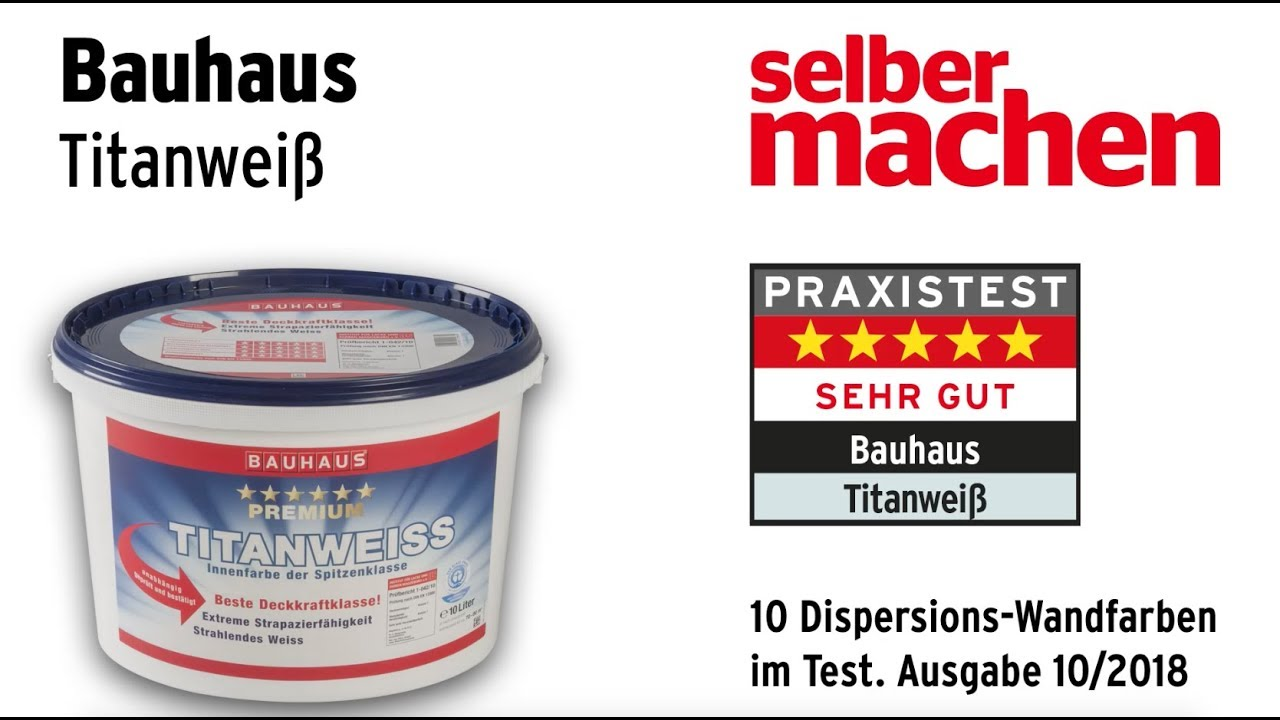 Wandfarbentest Bauhaus Titanweiss
