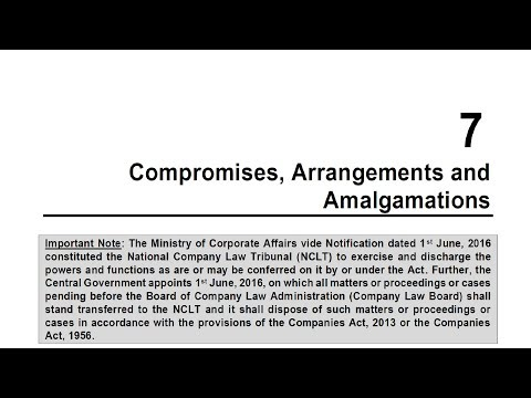 CA Final Corporate and Allied Laws - Compromise, Arrangements and Amalgamations