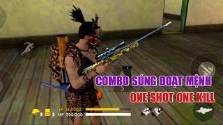 Siêu combo súng đoạt mệnh, ONE shot ONE kill, TOP 1 SOLO RANK | Garena Free Fire || Lão Gió
